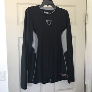 Under Armour heat gear fitted baseball tee Size L